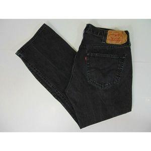 Levis 501 Men 38 x 30 Straight Leg Black Jeans